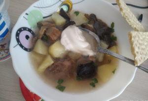 Готовим грибной суп из замороженных грибов