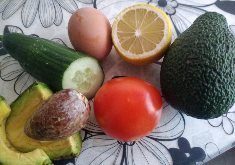 авокадо помидор огурец яйцо